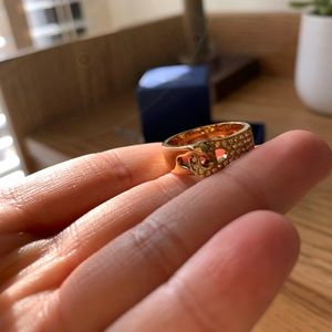 Genuine Swarovski Gold Ring with Crystals